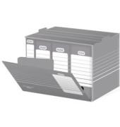 Archivboxen tric 83421 A3 grau/weiß 47,3x27,5x36,2cm