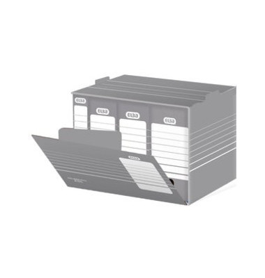 Archivbox tric grau/weiß 47,3 x 36,2 x 27,5 cm DIN A3