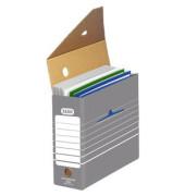 Archivboxen tric 83422 A4 grau/weiß 27x11x34cm