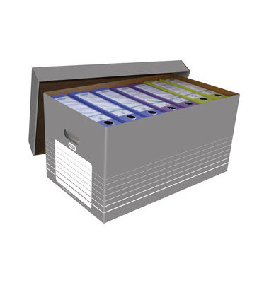 Faltkartons Archivbox tric 350x585x300 mm grau