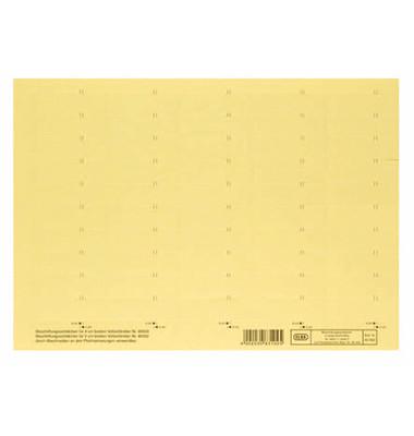 Beschriftungsschilder 4-zlg. gelb 58mm breit Bg 50 St