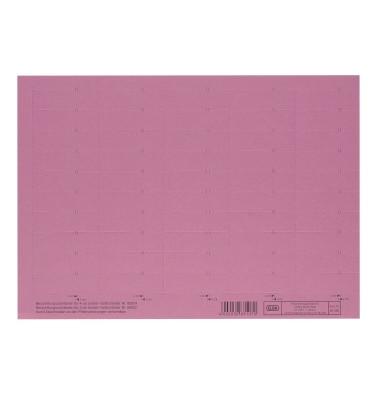Beschriftungsschilder 4-zlg. rot 58mm breit Bg 50 St
