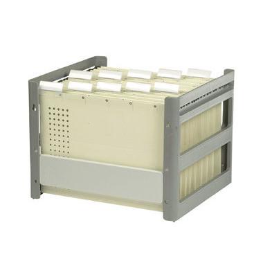 Hängemappenbox Go-Fix 84408 grau bis 30 Mappen leer