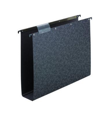 60 mm A4 Hängesammler vertic schwarz Hartpappe