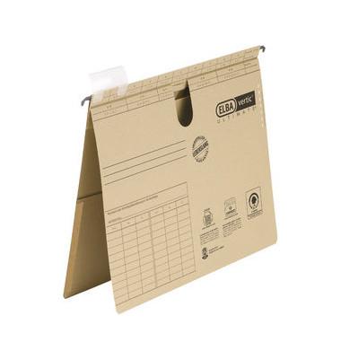 Hängehefter vertic ULTIMATE 85442 A4 240g Karton braun kaufmännische Heftung mit Tasche
