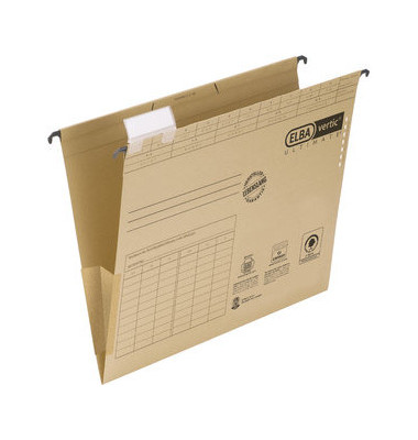 Hängetasche A4 vertic ULTIMATE Recycling Karton seitliche Frösche 100081040