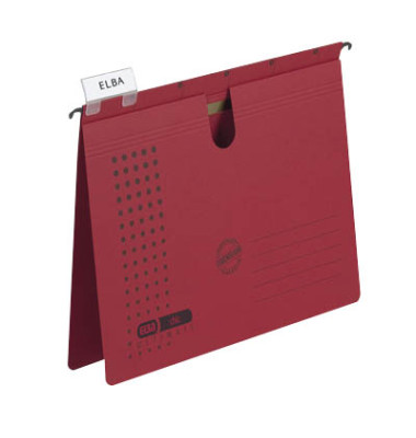 Hängehefter chic ULTIMATE 85802 A4 240g Karton rot kaufmännische Heftung 5 Stück