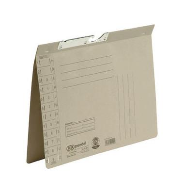 Pendelhefter A4 250g Karton grau Amtsheftung