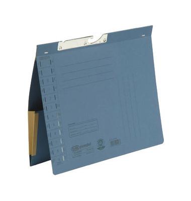 Pendelhefter 90433 A4 320g Karton blau Amtsheftung mit Dehntasche
