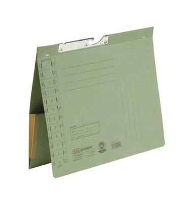 Pendelhefter 90433 A4 320g Karton grün Amtsheftung mit Dehntasche