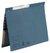 Pendelhefter 90463 A4 320g Karton blau kaufmännische Heftung mit Dehntasche