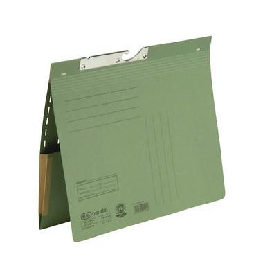 Pendelhefter 90463 A4 320g Karton grün kaufmännische Heftung mit Dehntasche