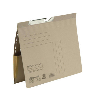 Pendelhefter 90463 A4 320g Karton grau kaufmännische Heftung mit Dehntasche