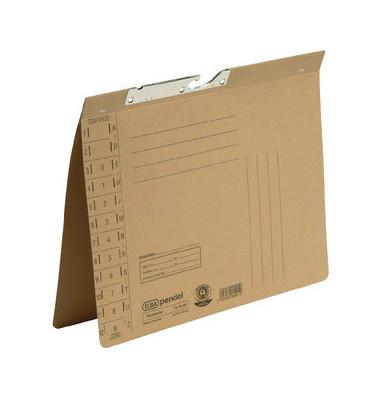 Pendelhefter A4 230g Natron Recyclingkarton braun Amtsheftung