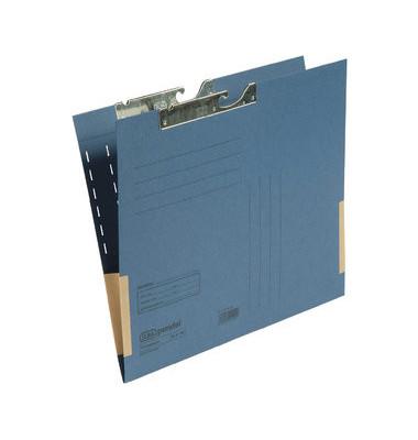 Pendeltasche 91460 A4 320g Karton blau für lose Blätter mit Leinenfröschen