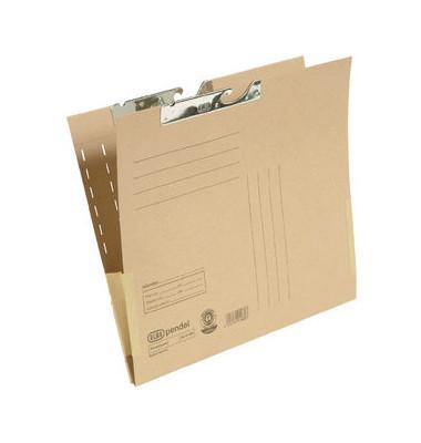 Pendeltasche 91480 A4 230g Karton natronbraun für lose Blätter mit Leinenfröschen