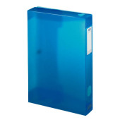 Sammelmappe Polyvision 100200140, A4 Kunststoff, für ca. 400 Blatt, blau transparent
