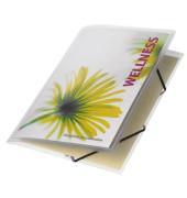 Eckspannmappe Polyvision A4 PP farblos-transparent