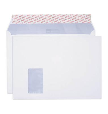 Versandtaschen Premium C4 mit Fenster haftklebend 120g weiß 250 Stück Öffnung an der langen Seite