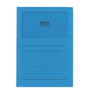 Sichtmappe Ordo classico 29488 A4 120g Papier intensivblau für lose Blätter mit Sichtfenster