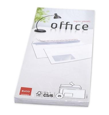 Briefumschläge Din Lang+ mit Fenster haftklebend 80g weiß 25 Stück