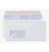 Briefumschläge Din Lang+ mit Fenster haftklebend 80g hochweiß 200 Stück