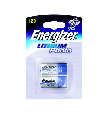 Fotobatterie Lithium Photo CR123 2 Stück