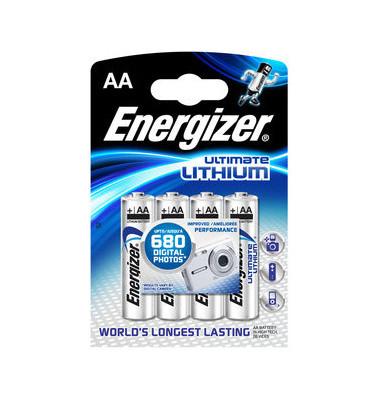 Batterie Ultimate Lithium Mignon / LR06 / AA 4 Stück