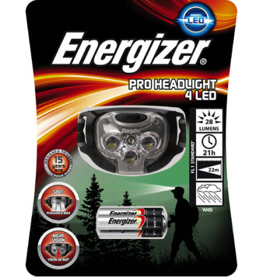 Stirnlampe Pro Headlight 4 LED 3xAAA