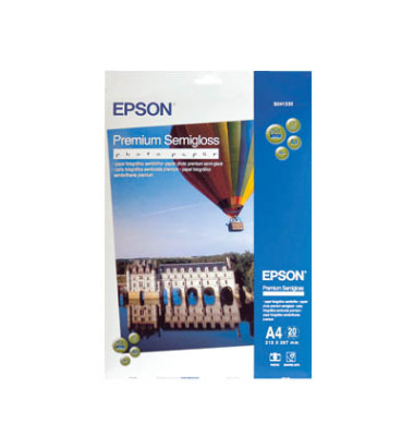 Inkjet-Fotopapier A4 S041332 Premium einseitig seidenmatt 251g 20 Blatt