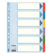 Kartonregister 100168 blanko A4 160g farbige Taben 6-teilig