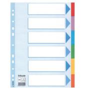 Kartonregister 100192 blanko A4 160g farbige Taben 6-teilig