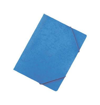 Eckspanner A4 blau 450g Pressspan mit Eckspanngummi