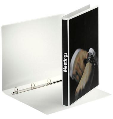 Präsentations-Ringbuch 49700 A4 weiß 4-Ring Ø 16mm