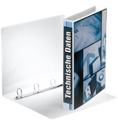 Präsentations-Ringbuch 49702 A4 weiß 4-Ring Ø 25mm Kunststoff