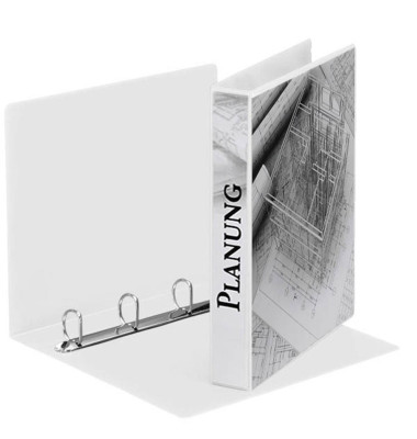 Präsentations-Ringbuch 49703 A4 weiß 4-Ring Ø 30mm