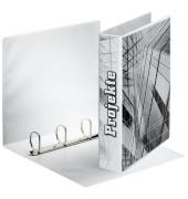 Präsentations-Ringbuch 49704 A4 weiß 4-Ring Ø 40mm