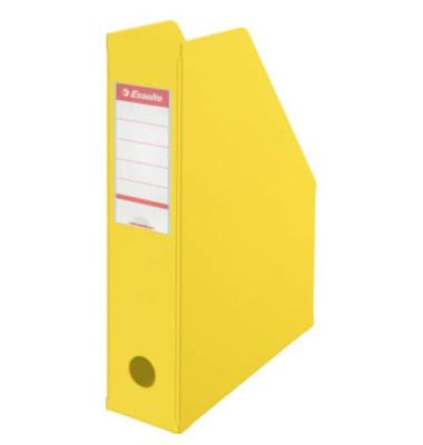 Zeitschriftenbox PVC für A4 gelb 70x243x315