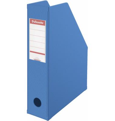 Zeitschriftenbox PVC für A4 blau 70x243x315