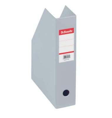 Zeitschriftenbox PVC für A4 grau 70x243x315