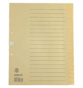 Kartonregister 621006 blanko A4 100g chamois Taben 20-teilig
