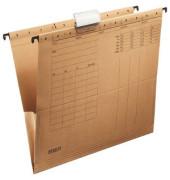 Hängetasche A4 Recyclingkarton braun mit Reiter seitliche Frösche 621010