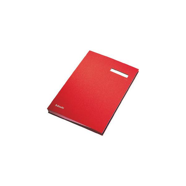 Esselte unterschriftenmappe a4 rot 20 f cher for Schreibtisch lang schmal