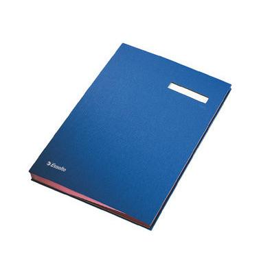Unterschriftsmappe A4 blau 20 Fächer