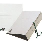 Zeichnungsmappe A3 mit Bändern grau Füllhöhe 20mm RC-Karton 550g