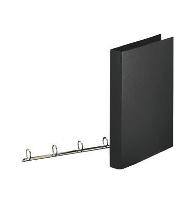 Ringbuch A4 schwarz 2-Ring-Reißmechanik Ring-Ø 25 mm