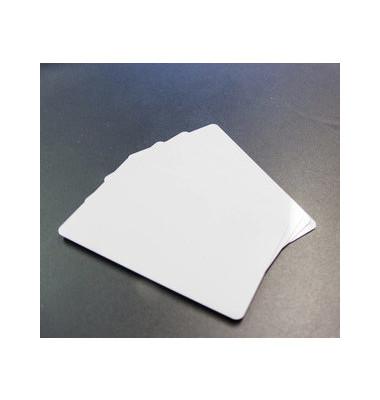 Plastikkarten blanco f.Zebra weiß 0,76mm PVC 500 St
