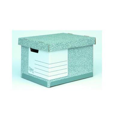 Archivbox grau/weiß 33,3 x 39 x 28,5 cm mit Deckel