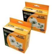 CD/DVD Papierhüllen mit Fenster 126x124mm 50 Stück