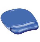 Mauspad Crystal Gel mit Handgelenkauflage blau